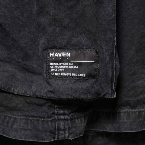 HAVEN Combat Jacket - Sulphur Dyed Cotton Black, Outerwear