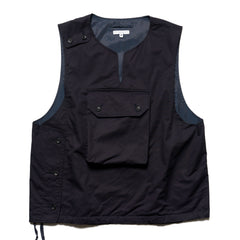Engineered Garments High Count Twill Cover Vest Dk. Navy, Vests