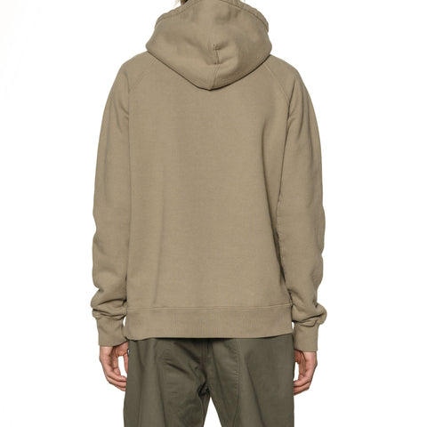 HAVEN Garment Dyed Pullover - Midweight Cotton Fleece Bark, Sweaters