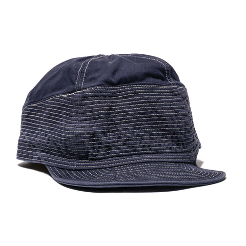 28016be8f3052 KAPITAL Chino The Old Man And The Sea Cap Navy
