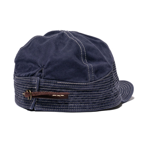 KAPITAL Chino The Old Man And The Sea Cap Navy, Headwear
