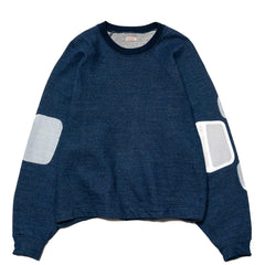 KAPITAL IDG Fleecy Knit Ichimatsu T.B. Pocket Raglan Big Sweat Shirt, Sweaters