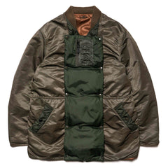 KAPITAL MA-1 Nylon Army Sha-Ka Jacket (Mud Finish) Khaki, Jackets