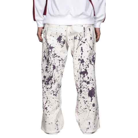 Needles Side Line Painter Pant C/L Twill/ Paint White, Bottoms
