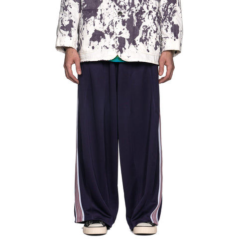 Needles H.D. Track Pant Poly Smooth Eggplant, Bottoms