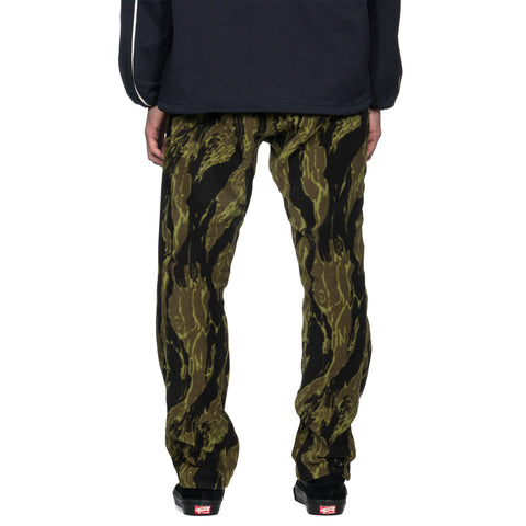 Needles Seam Pocket Pant Poly Fleece/ Tiger Camo Stripe Olive, Bottoms