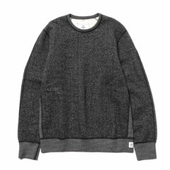 Reigning Champ Tiger Fleece Crewneck Black, Sweaters