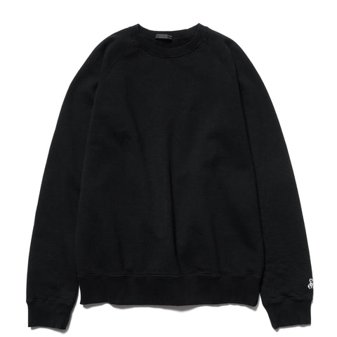SOPHNET. Elbow Patch Crew Neck Sweat Black, Sweaters
