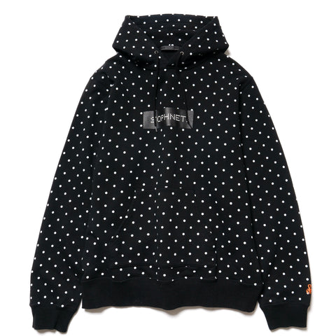 SOPHNET. Polka Dot Pull Over Parka Black, Sweaters