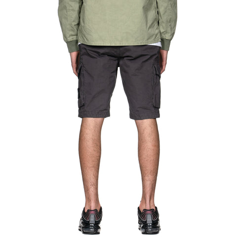 Stone Island Brushed Cotton Canvas Garment Dyed -Old Effect- Cargo Short Pewter, Bottoms