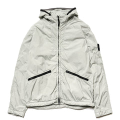Stone Island Garment Dyed Crinkle Reps Nylon Short Hooded Jacket Pearl, Jackets