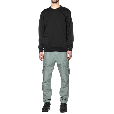 Stone Island Shadow Project Cotton Linen Canvas Garment Dyed Cargo Pant Salvia, Bottoms