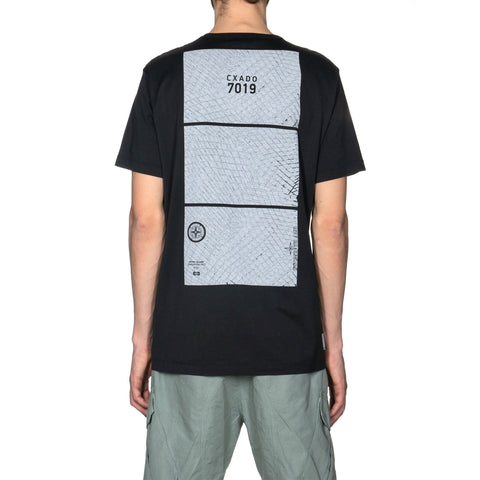 Stone Island Shadow Project Mako Jersey Cotton Dyed Pocket SS T-Shirt Black, T-Shirts