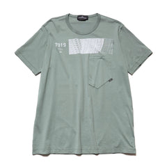 Mako Jersey Cotton Dyed Pocket SS T-Shirt Salvia