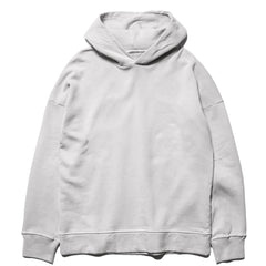 Ten c Garment Dyed Mako Cotton Fleece PO Hoodie Gray, Sweaters