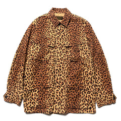 WACKO MARIA Leopard Fatigue Jacket -B- (Type-1) Beige, Jackets