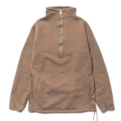 nonnative Cyclist Half Zip Cotton Sweat Beige, Sweaters