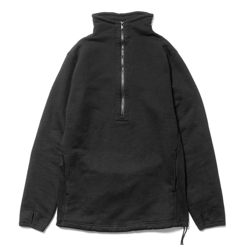 nonnative Cyclist Half Zip Cotton Sweat Black, Sweaters