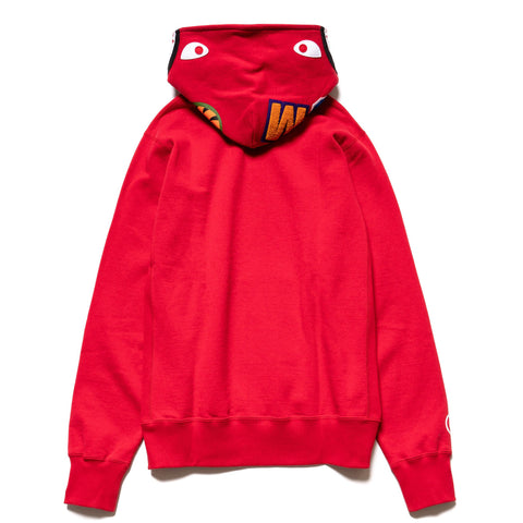 A BATHING APE Shark Pullover Hoodie Red, Sweaters