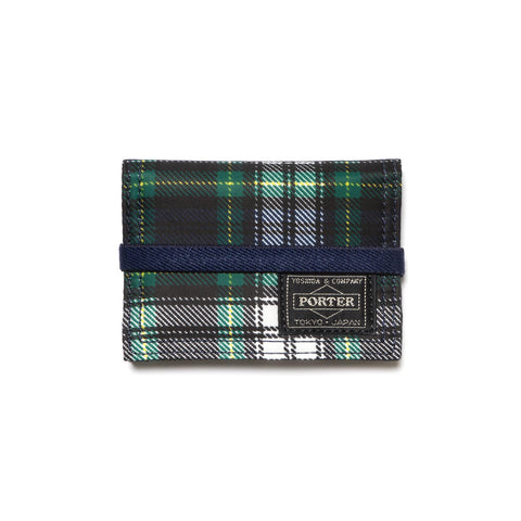 HEAD PORTER Highland Series Band Card Case Green