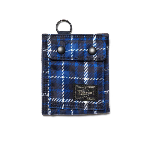 HEAD PORTER Highland Series Wallet Blue (S)