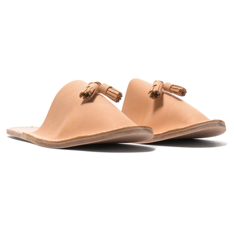 hender scheme Leather Slipper Natural