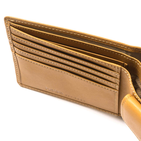hobo Cow Leather Wallet Beige