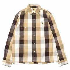 Human Made HMMD Check Shirt Brown