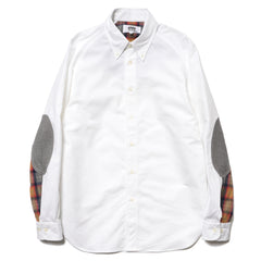Junya Watanabe MAN eYe Cotton Oxford x Cotton Flannel Shirt
