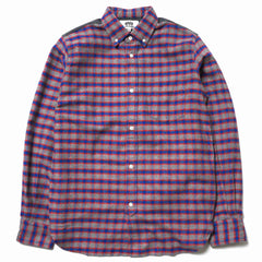 Junya Watanabe MAN eYe Cotton Twill Check x Cotton Broad Raised Shirt Gray