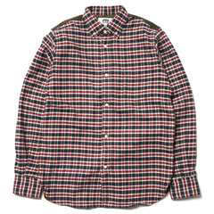 Junya Watanabe MAN eYe Cotton Twill Check x Cotton Broad Raised Shirt Khaki