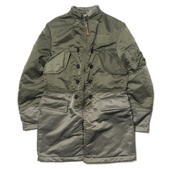 Junya Watanabe MAN eYe Nylon Twill Coat Khaki x Green