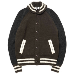 Junya Watanabe MAN eYe Carded Wool Jersey Khaki / Charcoal