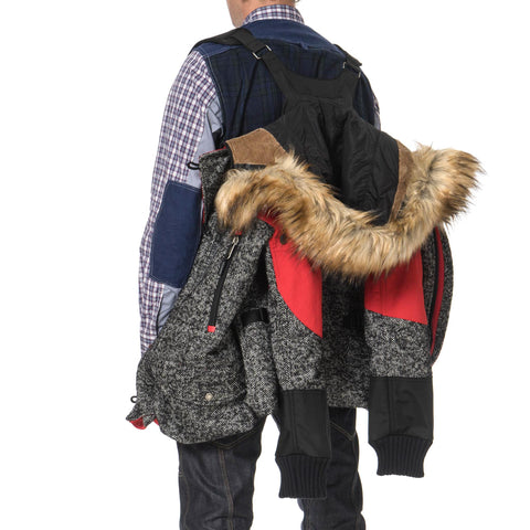 Junya Watanabe MAN x The North Face Wool Nylon Herringbone Duffle Bag Remake Jacket
