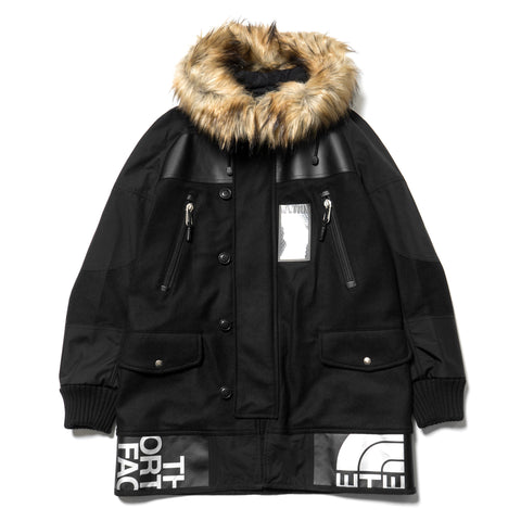 Junya Watanabe MAN x The North Face Wool Twill Flannel Duffle Bag Remake Jacket