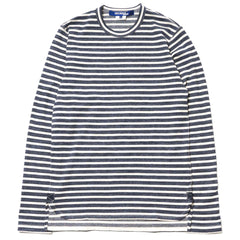 Junya Watanabe MAN Cotton Plating Stitch Border Shirt Navy/White