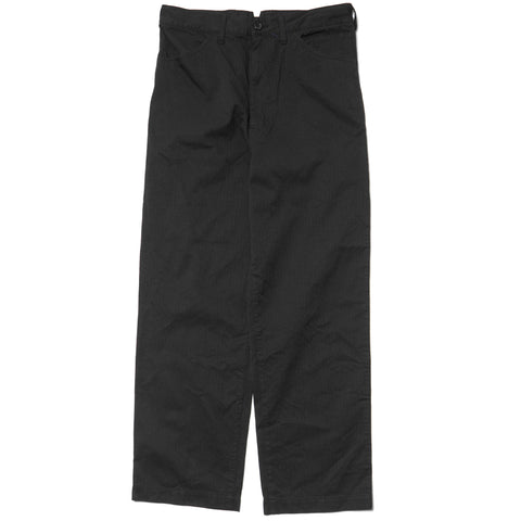 Junya Watanabe MAN Cotton Polyester Herringbone Garment Treated Pant Black