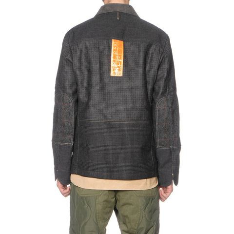 Junya Watanabe MAN x Carhartt Wool Cotton Twill Jacket Gray x Black/White
