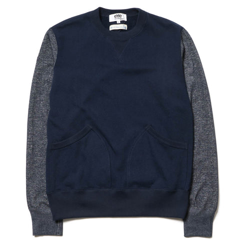 Junya Watanabe MAN x Merz b.Schwanen Cotton Back Pile Crew Neck Sweater