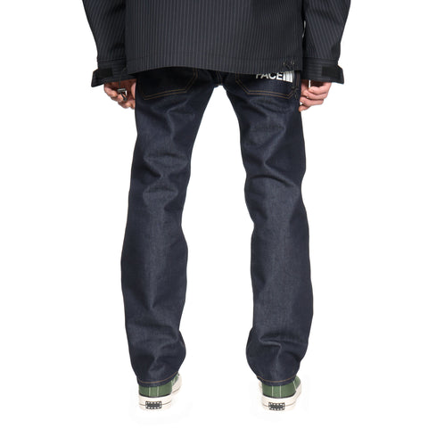 junya watanabe man x The North Face Cotton Nylon Logo Denim Pants Indigo