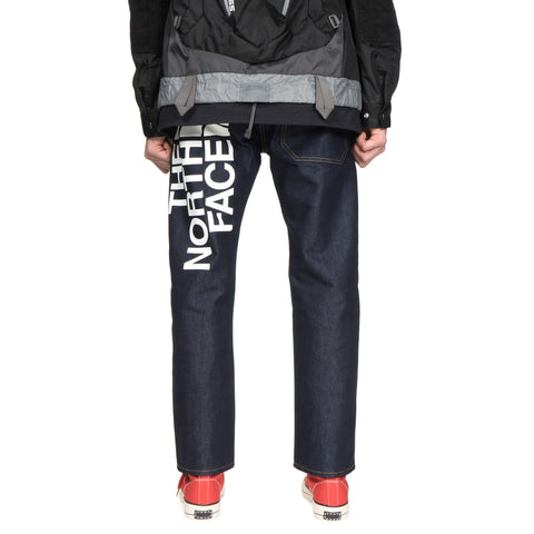junya watanabe man x The North Face Cotton Nylon Oversize Logo Denim Pants Indigo