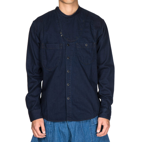 Kapital 8 oz IDG × IDG Denim Band Collar Rollar Shirt
