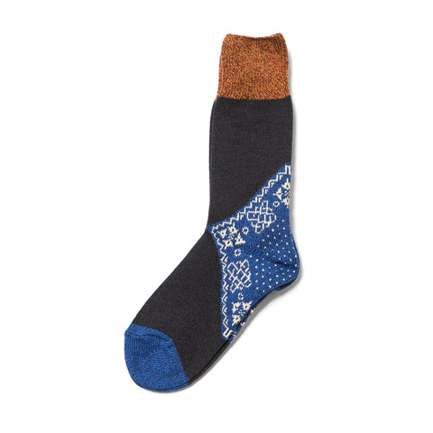 kapital 96 Yarns Bandana Socks Blue