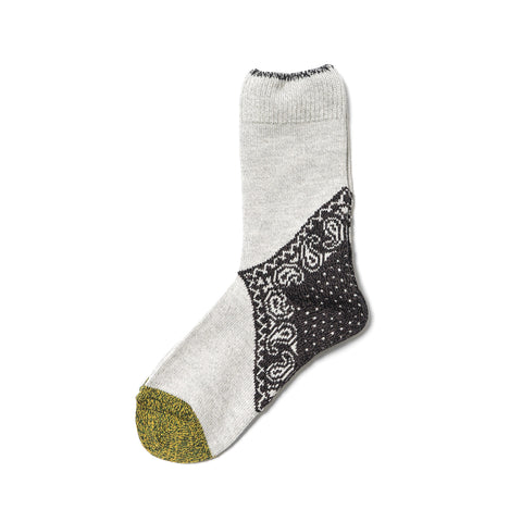 kapital 96 Yarns Paisley Bandana Socks Black