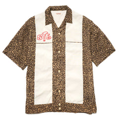 KAPITAL Broad Cloth x Leopard Satin Bowling Shirt