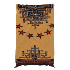 KAPITAL Compressed Wool Scarf Ainu x Betsy Ross Gold