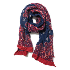 Kapital Compressed Wool Scarf Cosmic Star Red