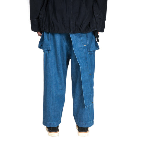 Kapital 11.5 oz Denim Sleeper Cargo Pants Indigo