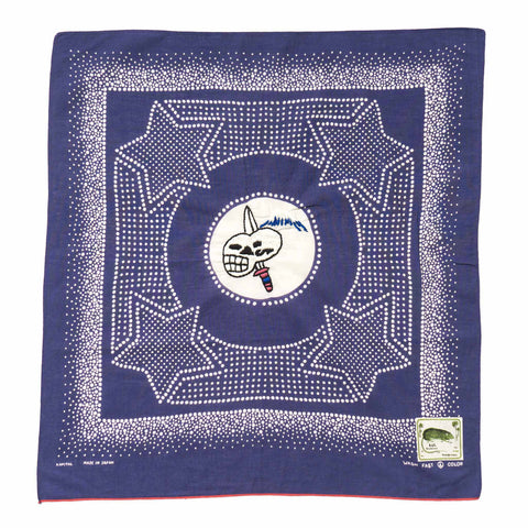 kapital Fastcolor Selvedge Bandana (Vietnam Star) Purple