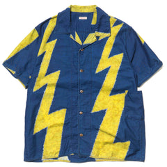 KAPITAL IDG Cotton Sheeting Thunder Dye Aloha Shirt